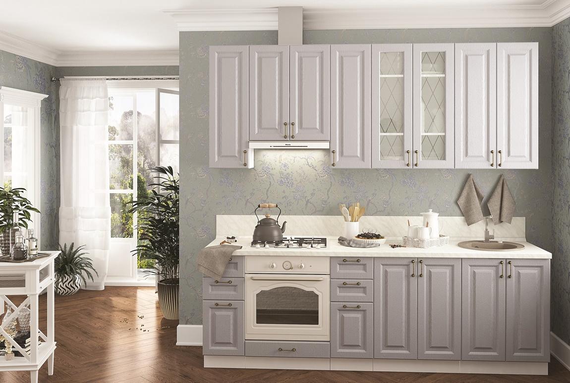 Kuchyně NIZZA 240 bk/dub šedý