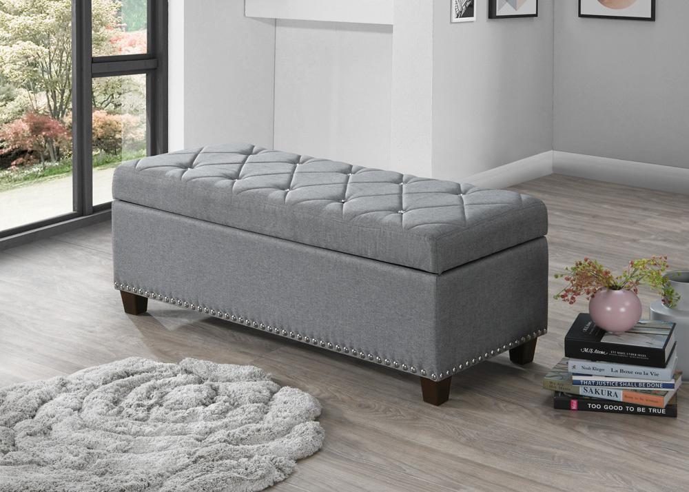 Lavice - úložný prostor NANTES gris šedá
