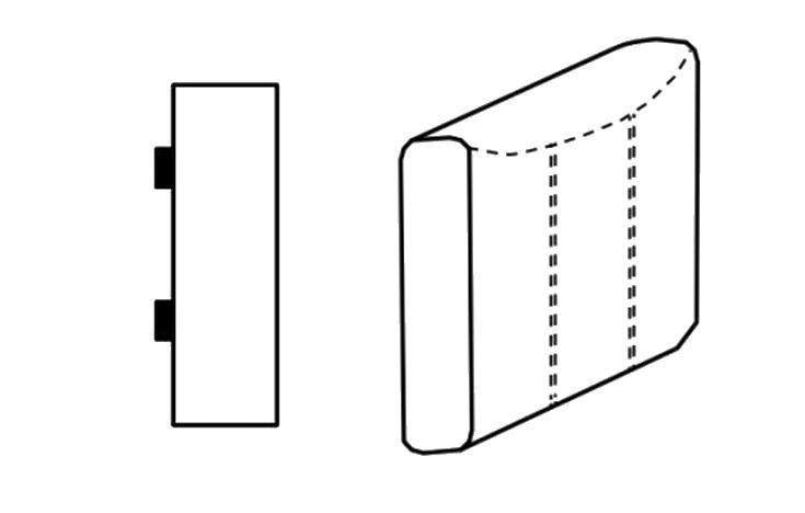 Segment bok D SELECT pravý, látky A1