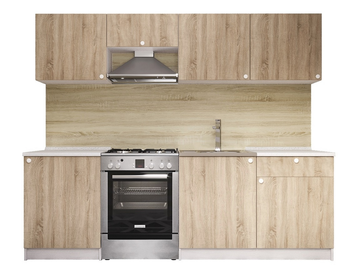 Kuchyně RONDA 240 bílá/dub sonoma