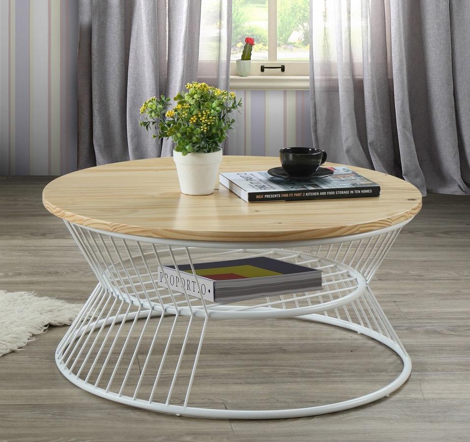 Konferenční stolek PURE II S2 natural/bílá