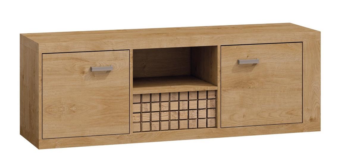 Televizní stolek 2D1S NATURAL N12 dub ribbeck/kostka