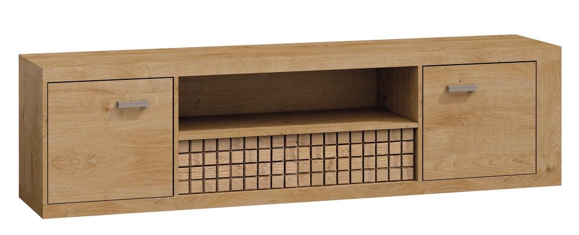 Televizní stolek 2D1S NATURAL N13 dub ribbeck/vlnka