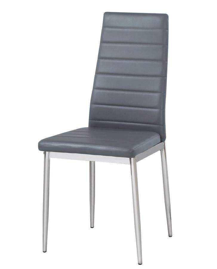 Jídelní čalouněná židle HRON IV šedá/chrom