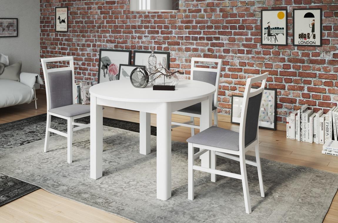 Jídelní stůl rozkládací GELA 1 bílá mat