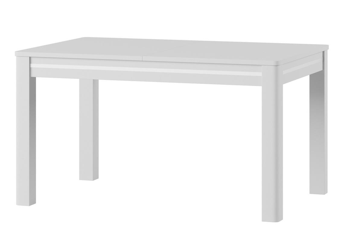 Jídelní stůl rozkládací RUSO 1 bílá lesk