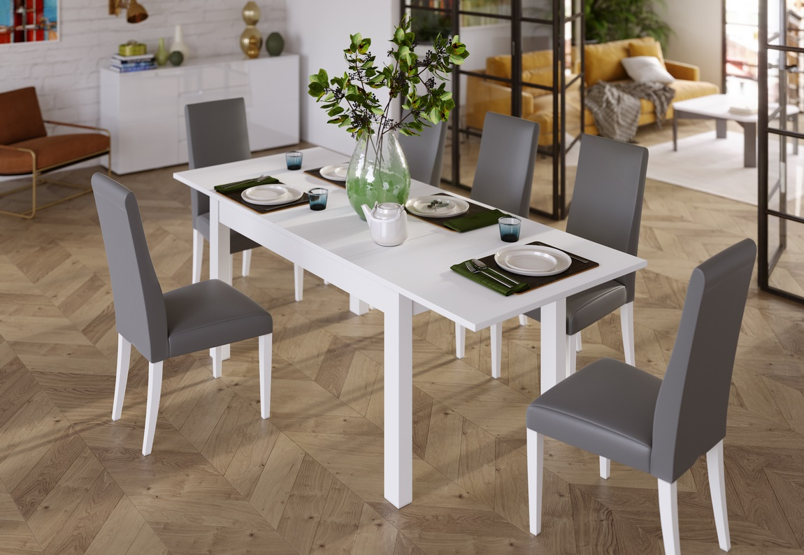 Jídelní stůl rozkládací GINOSA bílá