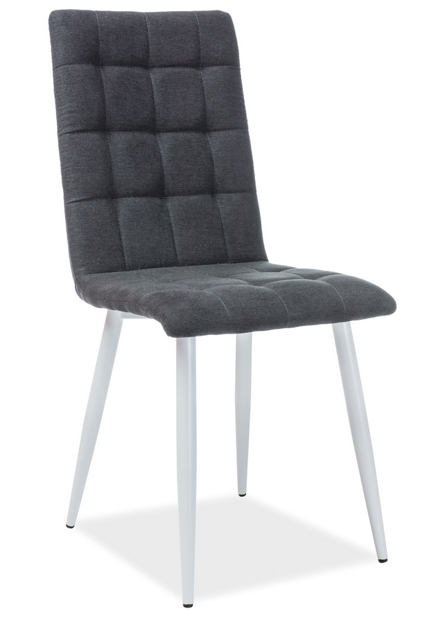 Jídelní čalouněná židle OTTO černá/bílá