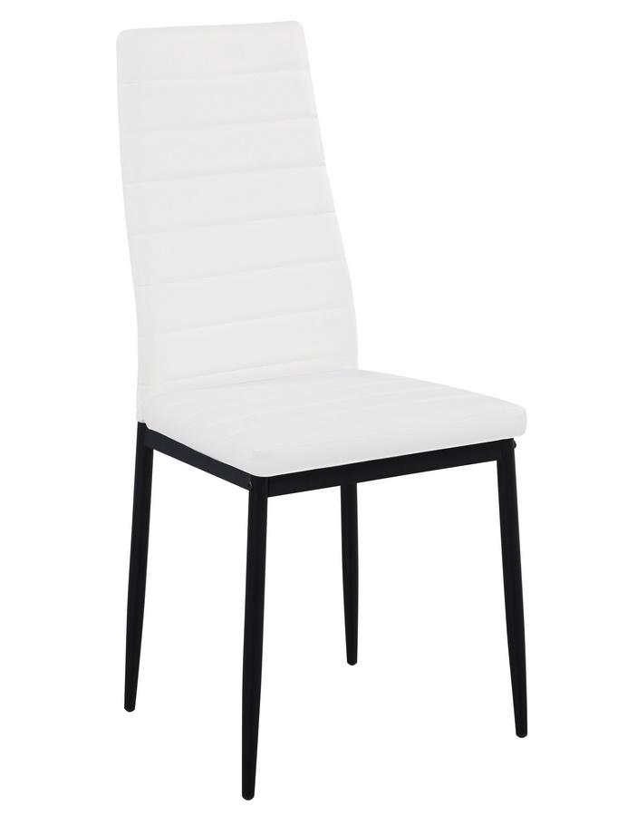 Jídelní čalouněná židle HRON III bílá/černá