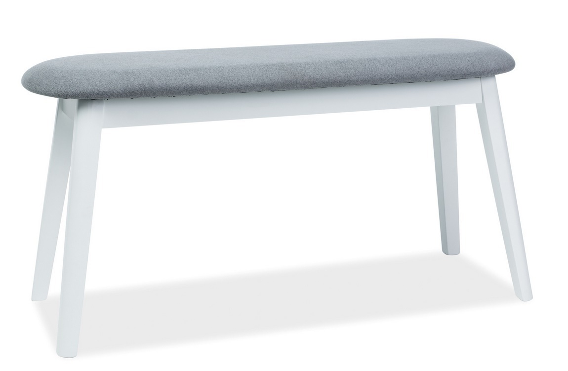 Čalouněná lavice KARL šedá/bílá