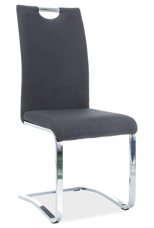 Jídelní čalouněná židle H-790 černá látka