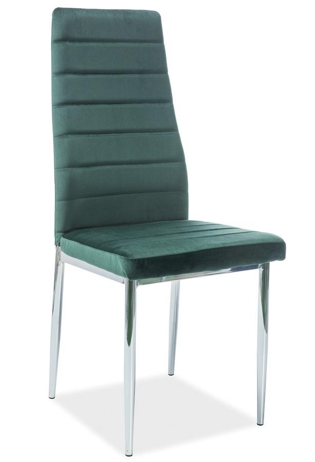 Jídelní čalouněná židle H-261 VELVET zelená