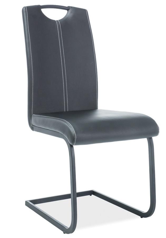 Jídelní čalouněná židle H-148 černá/černá