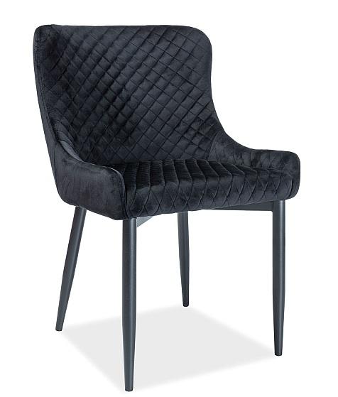 Jídelní čalouněná židle COLIN B VELVET černá/černá