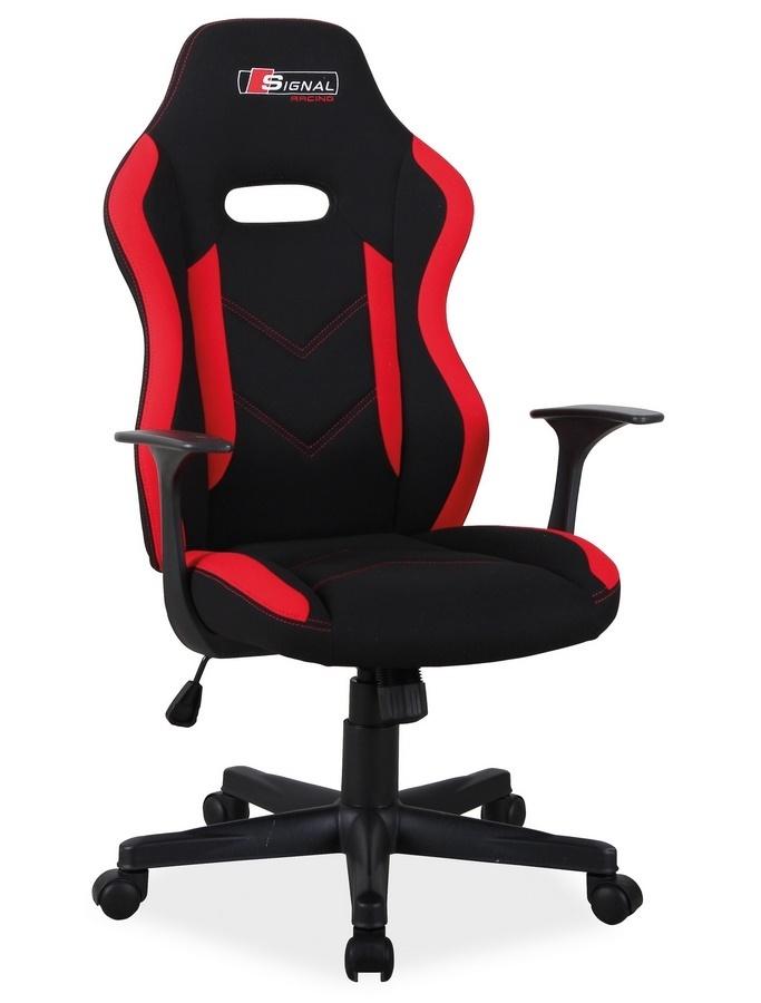 Kancelářské křeslo RAPID černá/červená látka