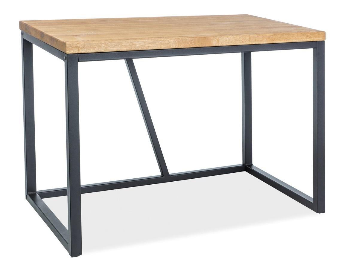Pracovní stůl SILVIO dub masiv/černá