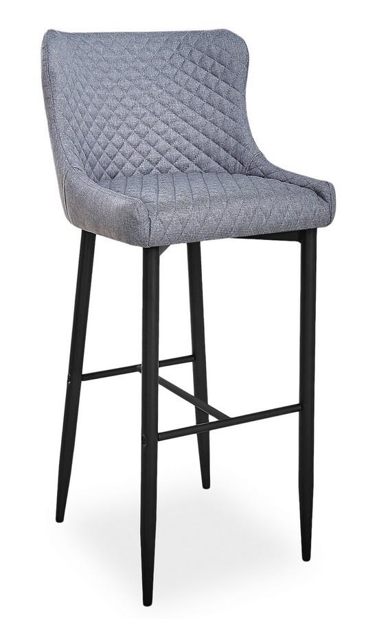 Barová židle COLIN B H-1 šedá/černá
