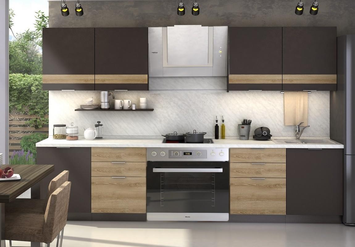Kuchyně TERRA 240 smrk/smokie s 3D páskem