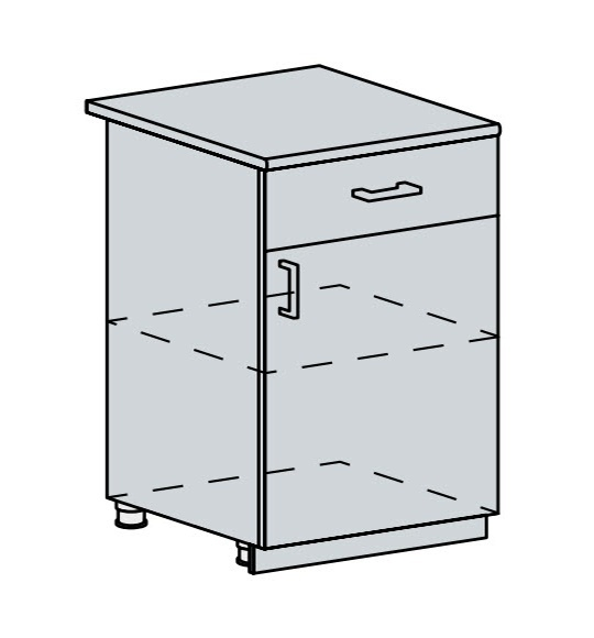 60D1D1S d. skříňka 1-dveřová se zásuvkou VALERIA wk/wenge