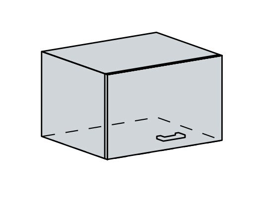 60VP h. skříňka výklopná VALERIA wk/bílá lesk