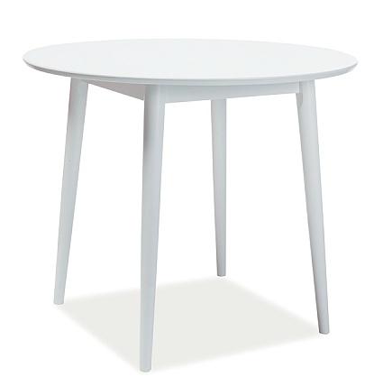 Jídelní stůl kulatý LARSON 90x90 cm bílá