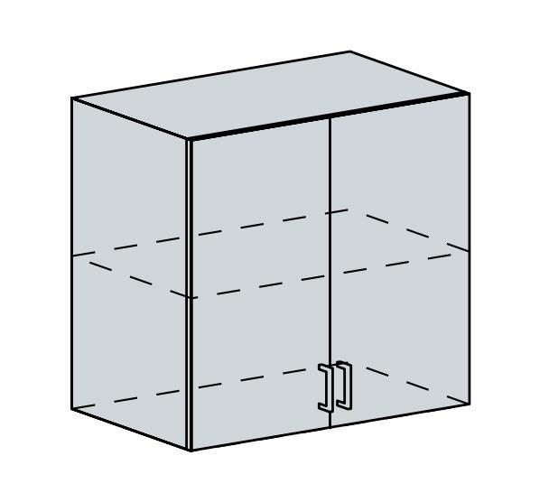 80H h. skříňka 2-dveřová PRAGA bk/bílá