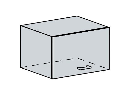 60VP h. skříňka výklopná PRAGA bk/bílá
