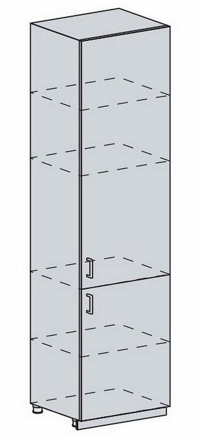 60PV potr. skříň 2-dveřová PRAGA bk/bílá