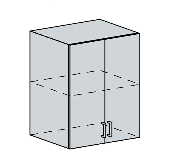 60H h. skříňka 2-dveřová PRAGA bk/bílá