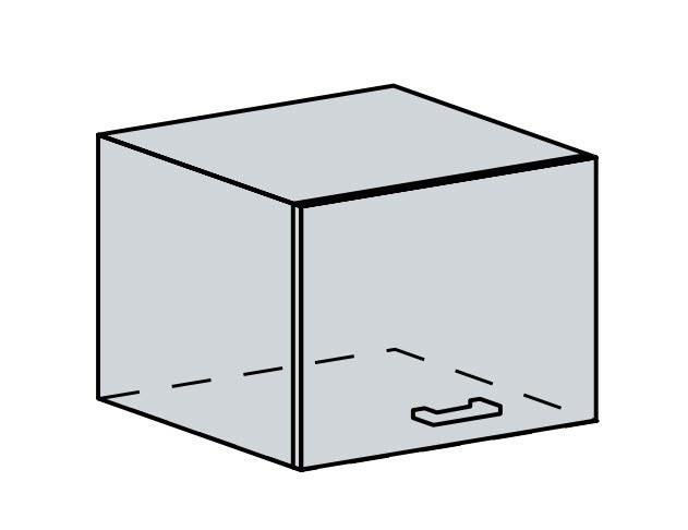 50VP h. skříňka výklopná PRAGA bk/bílá