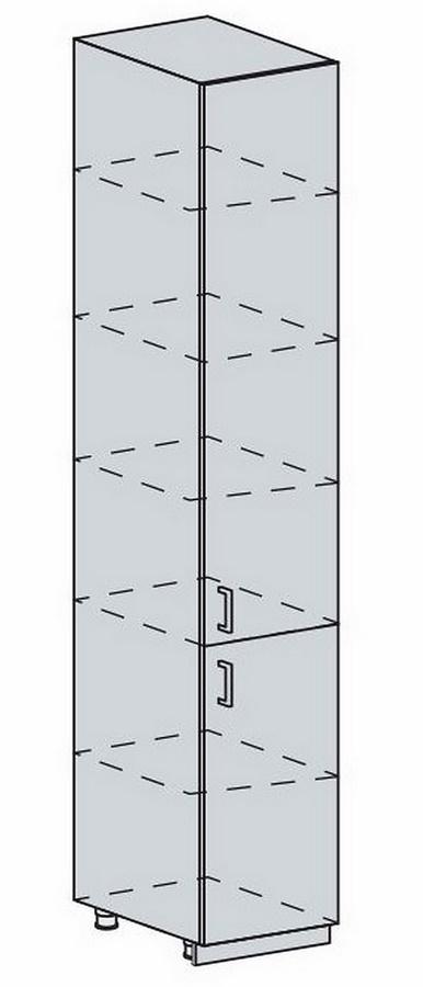 40PV potr. skříň 2-dveřová PRAGA bk/bílá