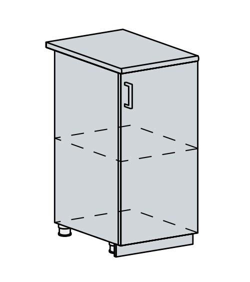 40D d. skříňka 1-dveřová PRAGA bk/bílá