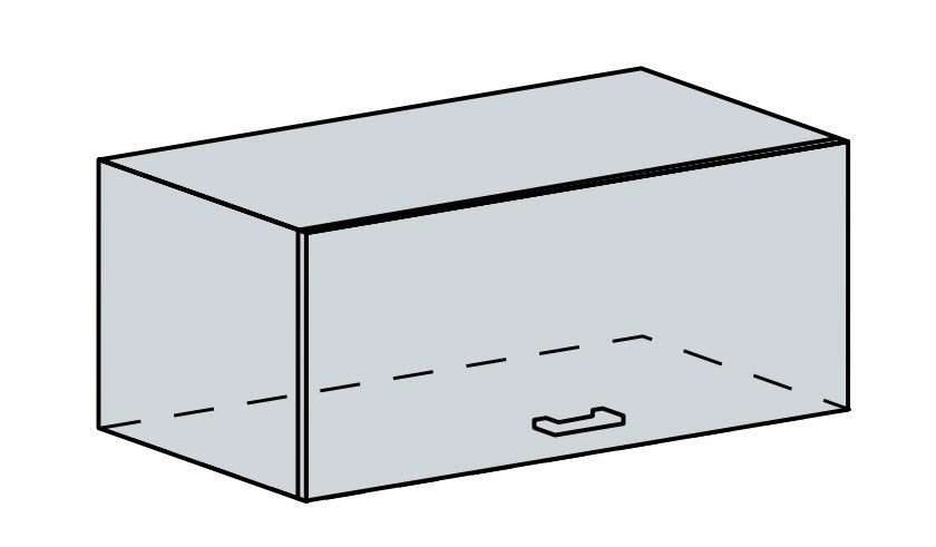 80VP h. skříňka výklopná PRAGA bk/wenge