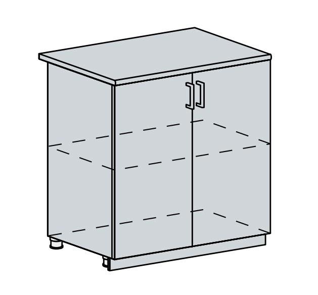 80D d. skříňka 2-dveřová PRAGA bk/wenge