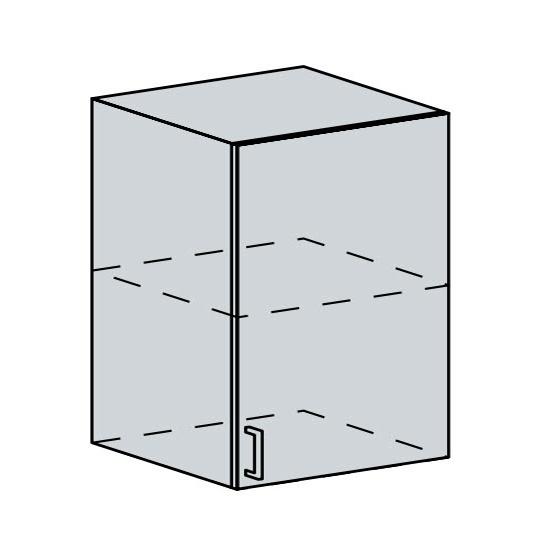 60H1D h. skříňka 1-dveřová PRAGA bk/wenge