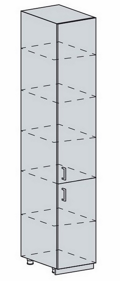 40PV potr. skříň 2-dveřová PRAGA bk/wenge