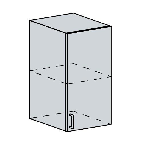 40H h. skříňka 1-dveřová PRAGA bk/wenge