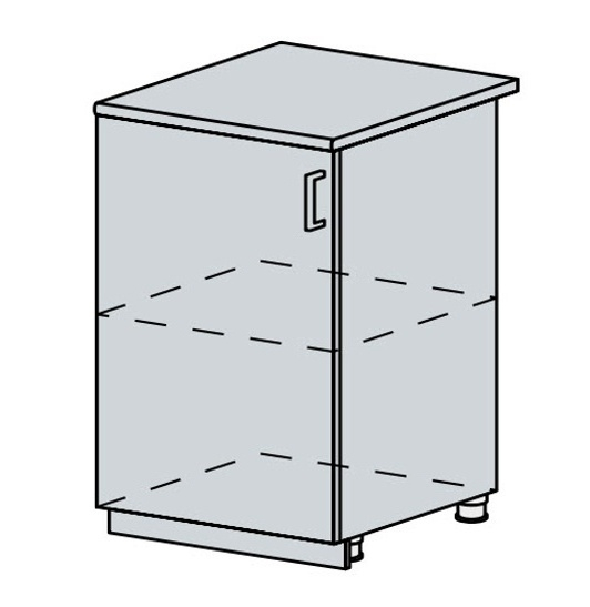 60D1D d. skříňka 1-dveřová VERONA jasan šimo