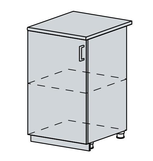 50D d. skříňka 1-dveřová VERONA jasan šimo