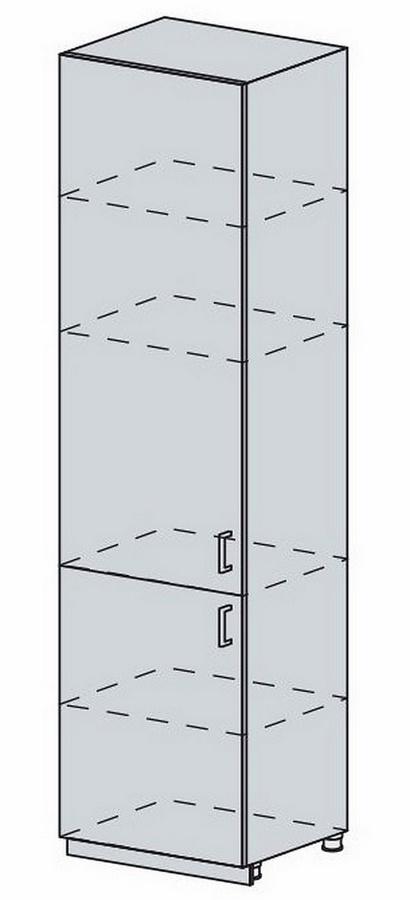 60PV potr. skříň 2-dveřová VERONA zlatý jasan