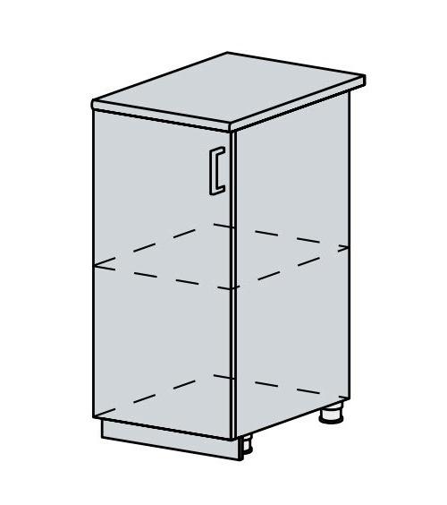 40D d. skříňka 1-dveřová VERONA zlatý jasan