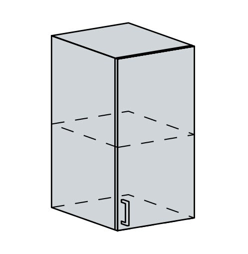 40H h. skříňka 1-dveřová PROVENCE šedá