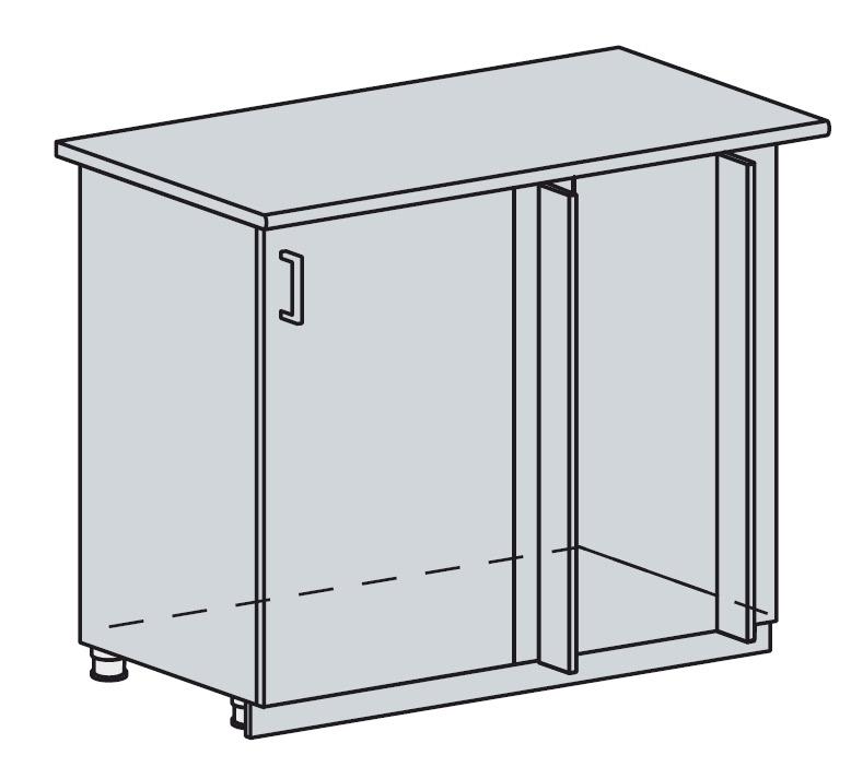 100DRM d. skříňka rohová PROVENCE šedá