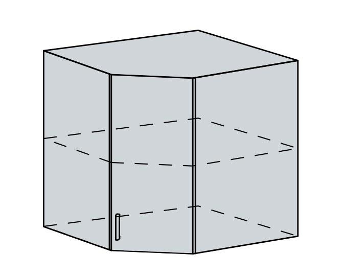 60HR h. skříňka rohová PROVENCE světle modrá
