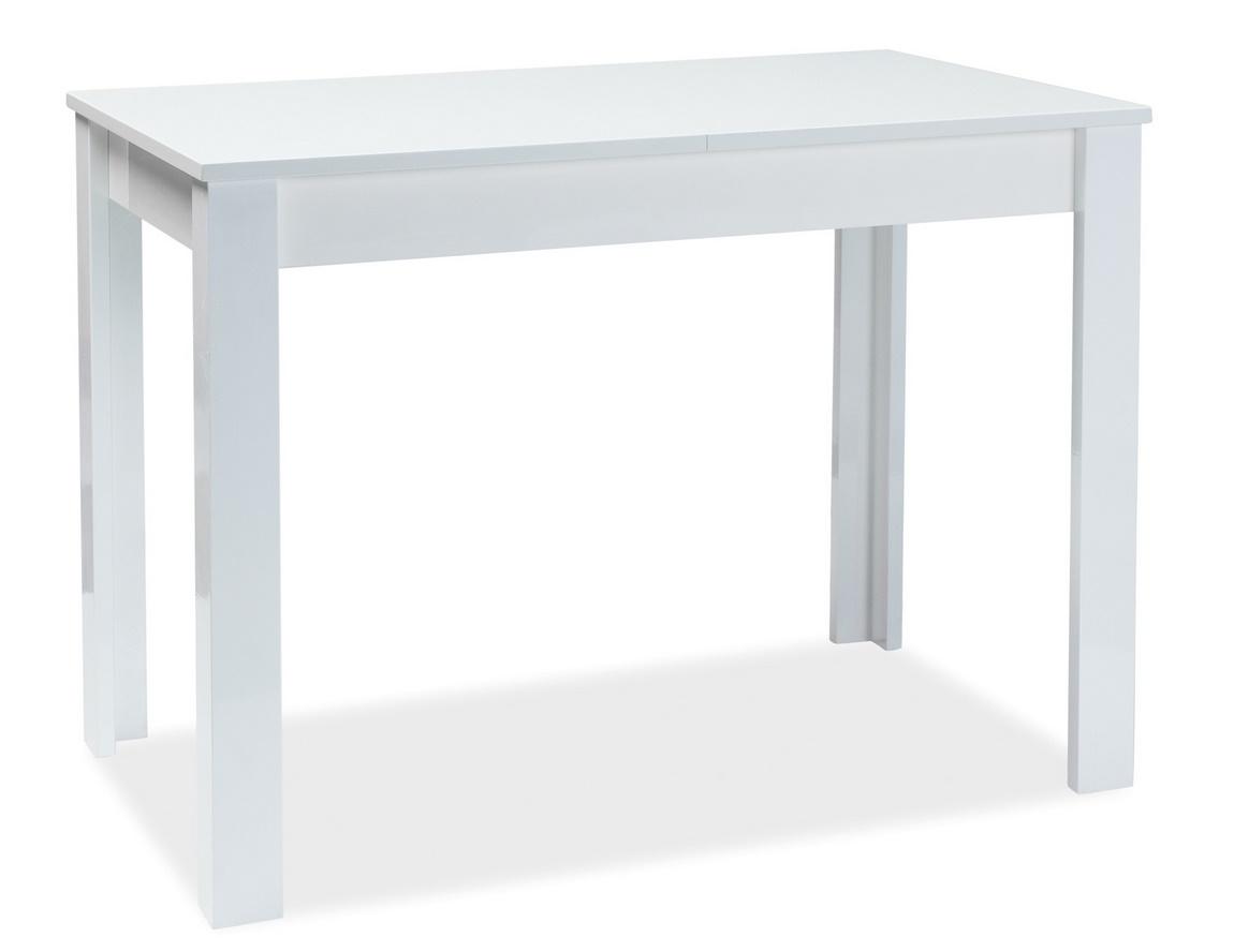 Jídelní stůl rozkládací ALBERT 120x68 bílý lak