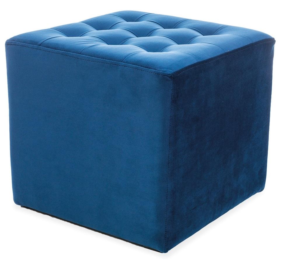 Taburet LORI VELVET granátově modrá