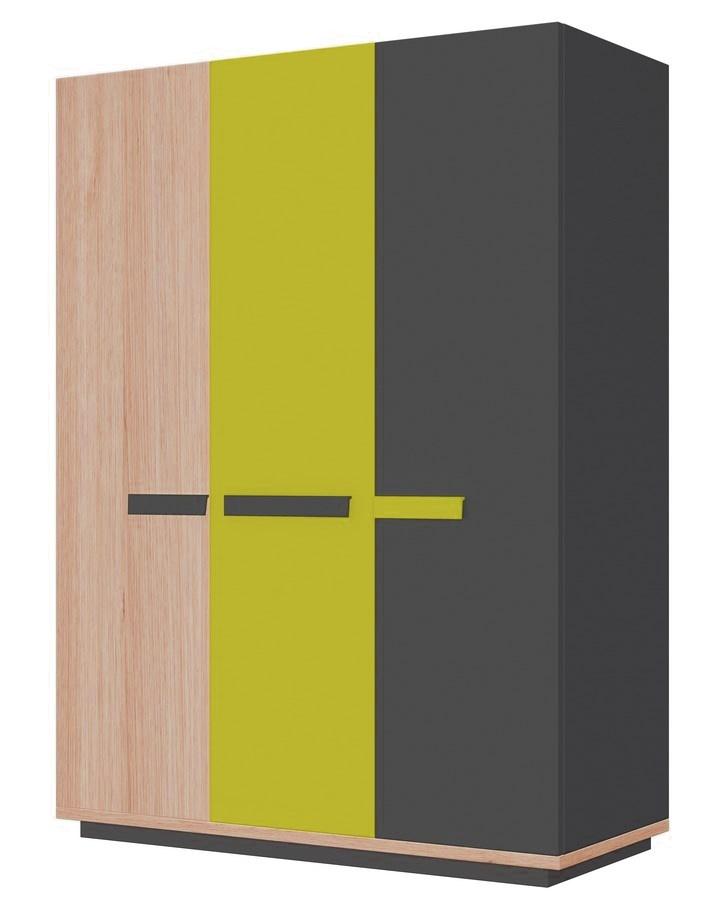 Šatní skříň 3d WOW W-5 zelená
