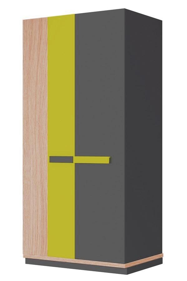 Šatní skříň WOW W-4 zelená