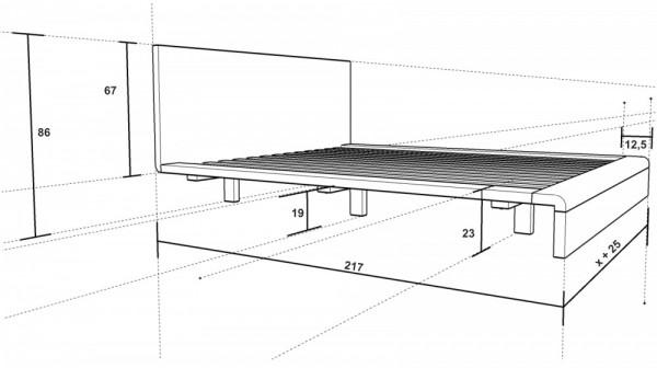 Dřevěná postel Paola