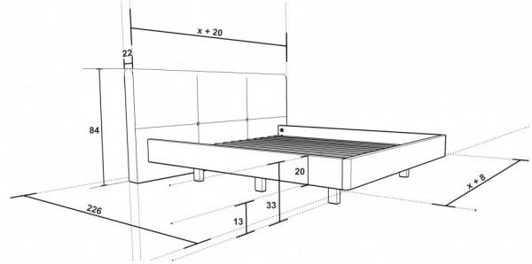 Dřevěná postel Devisa